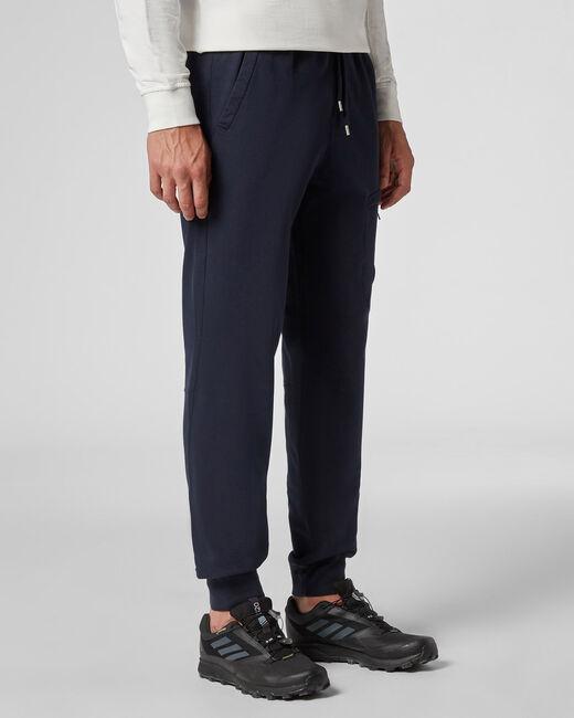 BLUE Garment Dyed Light Fleece Tapered Lens Sweatpants  - detail 1 C.P. Company
